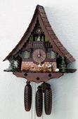 23in Beer Drinkers & Cute Dog 8 Days Musical German Black Forest Cuckoo Clock - NSC3080