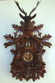 35in Hunting Scene & Animals 8 Days Musical Traditional German Black Forest Cuckoo Clock - NSC3065