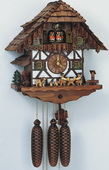 21in Beer Drinkers & Cute Dogs 8 Days Musical Chalet German Black Forest Cuckoo Clock - NSC3104