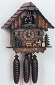 18in Moving Beer Drinker 8 Days Musical Chalet German Black Forest Clock by Schneider - NSC3239