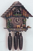18in Wood Chopper 8 Days Musical Chalet German Black Forest Clock by Schneider - NSC3236