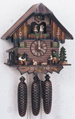 18in Beer Drinker & Wood Chopper 8 Day Musical German Black Forest Cuckoo Clock-NSC3194