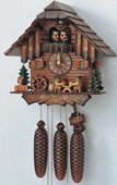 17in Beer Drinkers & Dancing Couples 8 Days Musical German Black Forest Cuckoo Clock - NSC3197