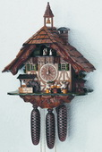 Authentic German Schonach 24in Beer Drinkers 8 Days Musical Black Forest Cuckoo Clock - NSC3107
