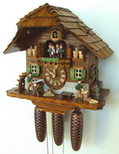 18in Woodchopper Woodsawer Schneider 8 Day Musical Chalet German Black Forest Clock - NSC3155