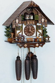 18in Beer Drinkers 8 Days Musical Chalet German Black Forest Clock by Schneider - NSC3188