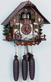 18in Wood Chopper 8 Days Musical Chalet German Black Forest Clock by Schneider - NSC3185