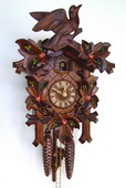 17in Birds & Leaves 1 Day Traditional German Black Forest Clock by Schneider - NSC3665