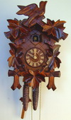 17in Birds & Leaves 1 Day Traditional German Black Forest Clock by Schneider - NSC3668