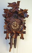 Authentic German Schonach 17in Birds & Leaves 1 Day Black Forest Cuckoo Clock - NSC3674