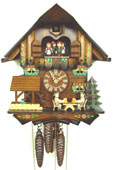 17in Beer Drinkers 1 Day Musical Chalet German Black Forest Clock by Schneider - NSC3308
