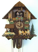 17in Moving Beer Drinkers 1 Day Musical Chalet German Black Forest Clock by Schneider - NSC3242