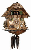 Authentic German Schonach 18in Wood Chopper 1 Day Musical Chalet Black Forest Cuckoo Clock - NSC3287