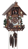 18in Beer Drinker & Cute Dog 1 Day Musical Chalet German Black Forest Clock by Schneider - NSC3272