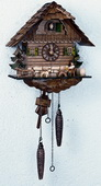 17in Beer Drinker & Cute Dog Quartz Chalet German Black Forest Clock by Schneider - NSC3449