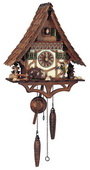 19in Clock Peddler Quartz Chalet German Black Forest Clock by Schneider - NSC3302