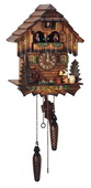 Authentic German Schonach 18in Beer Drinker Musical Qaurtz Black Forest Cuckoo Clock - NSC3419