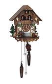 Authentic German Schonach 18in Wood Chopper Musical Quartz Black Forest Cuckoo Clock - NSC3401