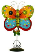 NVC Metal Multicolor Butterfly Clock with Removable Stand - NVC6473