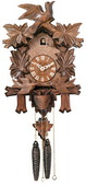18in Moving Feeding Birds & Nest German Black Forest Cuckoo Clock 1 Day Traditional - NVC6242