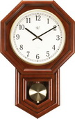 NVC Suzanne Radio-Controlled Wall Clock Cherry finished - NVC6350