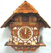 17in Nice Chalet & Rushing Water Sound German Black Forest Cuckoo Clock Quartz Chalet - NYC1443