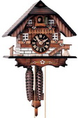 14in Nice Chalet German Black Forest Cuckoo Clock 1 Day Chalet - NYC1455
