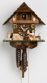 13in Beer Drinker German Black Forest Cuckoo Clock 1 Day Chalet - NYC1428