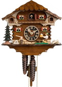 14in Moving Beer Drinker 1 Day Chalet German Black Forest Cuckoo Clock - NYC1407