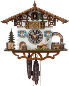 Authentic German Neustadt 15in Moving Beer Drinker 1 Day Chalet Black Forest Cuckoo Clock - NYC1371