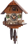 Authentic German Neustadt 15in Moving Woodcutter 1 Day Chalet Black Forest Cuckoo Clock - NYC1383
