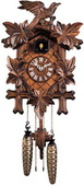 19in Leaves & Bird German Black Forest Cuckoo Clock Quartz Traditional - NYC1578