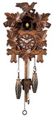 15in Leaves & Birds German Black Forest Cuckoo Clock Quartz Traditional - NYC1572