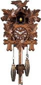 Authentic German Neustadt 15in Birds & Leaves & Musical Quartz Black Forest Cuckoo Clock - NYC1539