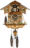 17in Kissing Lovers Quartz German Black Cuckoo Clock - NYC1323