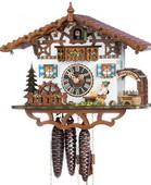 Authentic German Neustadt 15in Moving Beer Drinker 1 Day Musical Black Forest Cuckoo Clock - NYC1341
