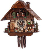 17.5in Moving Clock Peddler & Bell Ringer 1 Day Musical German Black Forest Cuckoo Clock - NYC1200