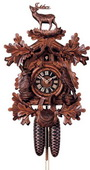 Authentic German Neustadt 22.5in Deer & Animal 8 Day Traditional Black Forest Cuckoo Clock - NYC1326