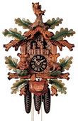 25in Bears & Play 2 songs German Black Forest Cuckoo Clock 8 Day Musical Traditional - NYC1032