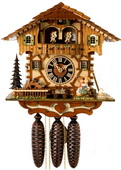 18.5in Moving Kissing Lovers German Black Forest Cuckoo Clock 8 Day Musical - NYC1101