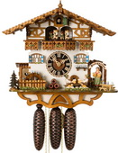 19in Octoberfest Moving Beer Drinkers 8 Day Musical German Black Forest Cuckoo Clock - NYC1047