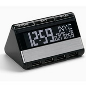 WTD1250 World Travel Clock with USB Hub