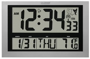 Aqua Pear Wotton 16.75in x 10.75in Atomic Digital Alarm Clock Large 4in Time Display - PLR1059