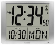 Aqua Pear Winsford 19.09x15.35in Atomic Digital Alarm Clock Extra Large 7in Time Display by LCT - PL