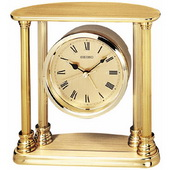 Seiko Laila Brass Desk or Table Clock with Alarm - GSK4104
