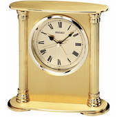 Seiko Levitown Brass Desk or Table Clock with Alarm - GSK4106