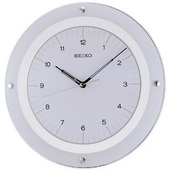 12 2/3in Seiko Sheridan Wall Clock Quiet Sweep No Ticking Sound - GSK4232