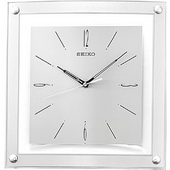 12.25in Aqua Pear Newbury Wall Clock Quiet Sweep No Ticking Sound by Seiko - GSK4234