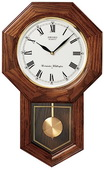 Seiko Deluxe Gabriel Chiming  Oak Schoolhouse Wall Clock - GSK4472