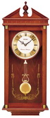 Seiko Deluxe Forman Chiming  Oak Pediment Pendulum Wall Clock - GSK4474
